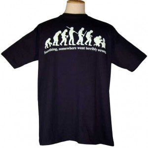 Something, Somewhere Went Terribly Wrong Funny Evolution Parody Tee