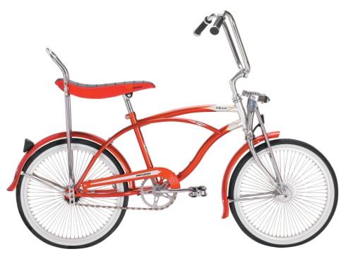 Orange Bike with Banana Seat