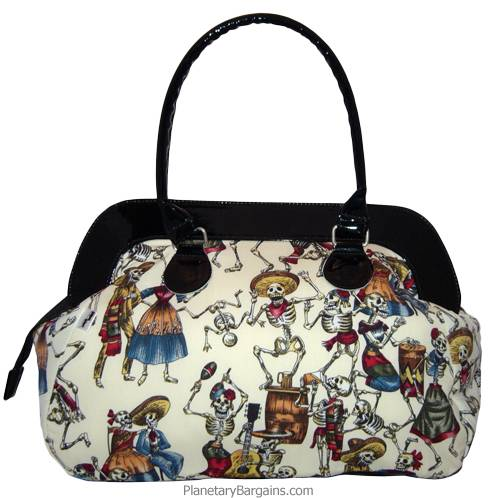 Eternal Fiesta Large White Canvas Hand Bag