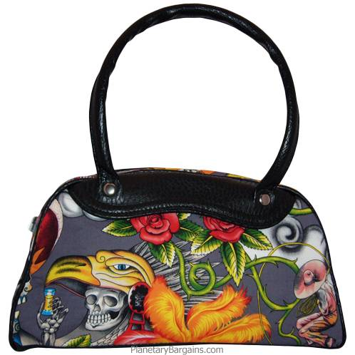 Inca Skulls Canvas Hand Bag