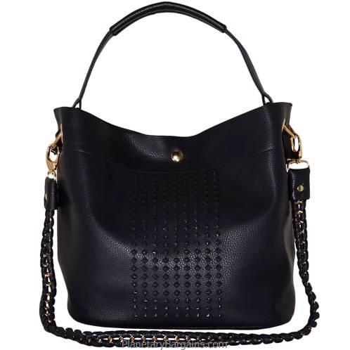 Studded Faux Leather Handbag Set