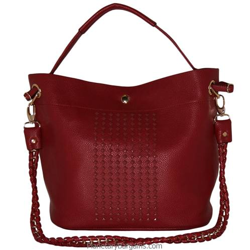 Studded Faux Leather Handbag Set