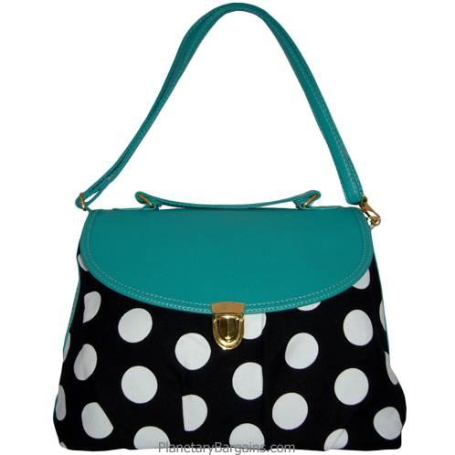 Green Pastel Polka Dot Shoulder Bag