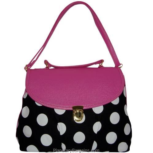 Pink Pastel Polka Dot Shoulder Bag