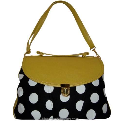 Yellow Polka Dot Shoulder Bag