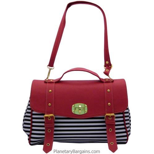Pastel Striped Shoulder Bag