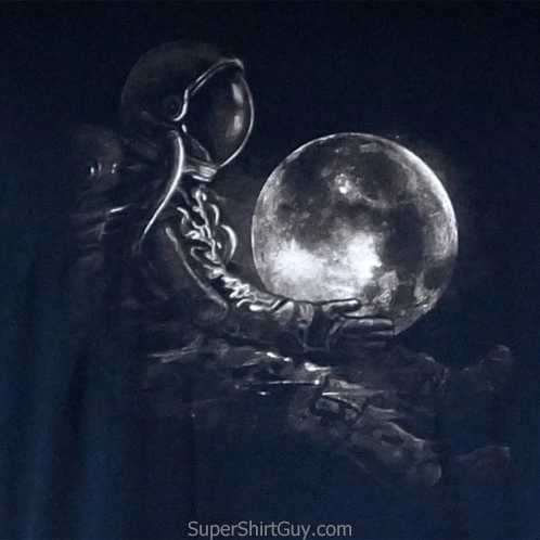 Space Man Moon Shirt