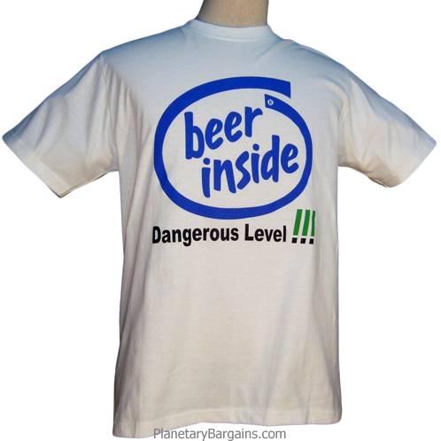 Beer Inside Shirt