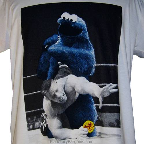 Wrestling Cookie Monster