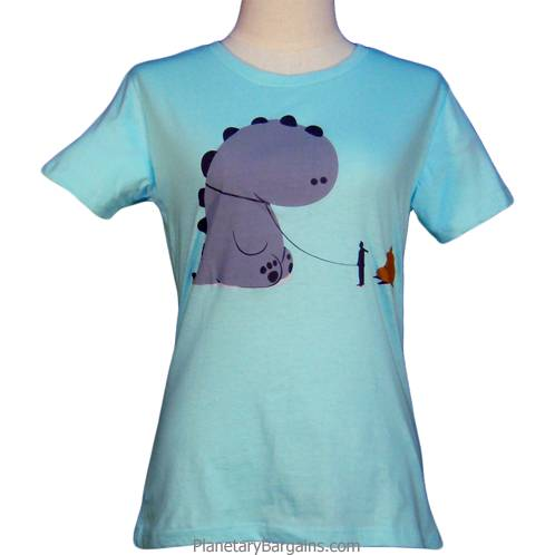 Ladies Bad Pet Dinosaur Shirt