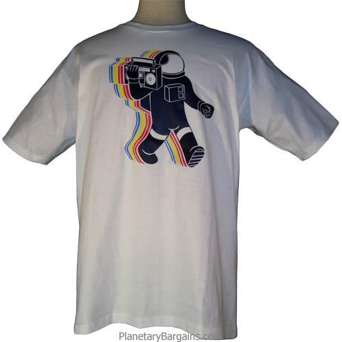 Boombox Astronaut Shirt Green - Radio Spaceman Shirt ...