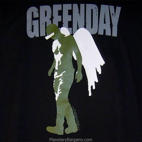 Green Day Angel Wings Shirt Black