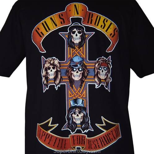 Guns N Roses Appetite For Destruction Shirt Black Gnr Tee