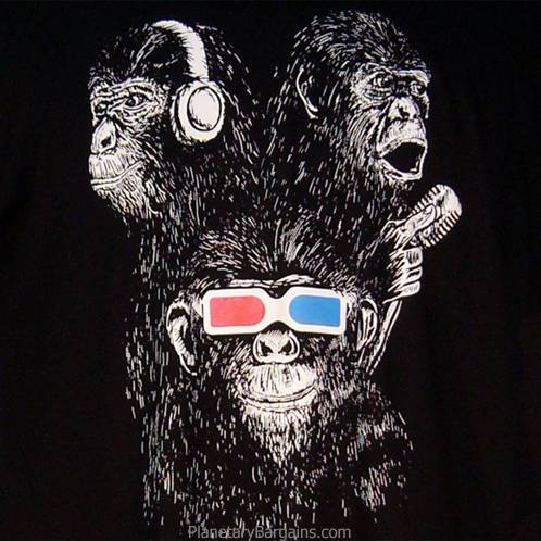 See More, Hear More, Speak More Evil Monkeys Shirt