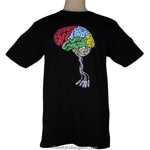 Jacked In USB Brain Shirt