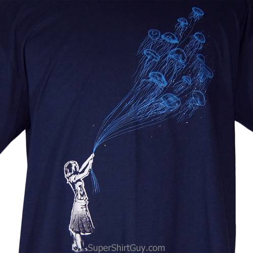 Jellyfish Balloon Girl Shirt