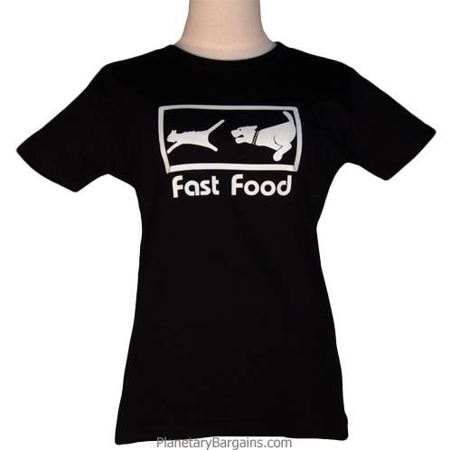 Ladies Fast Food Shirt