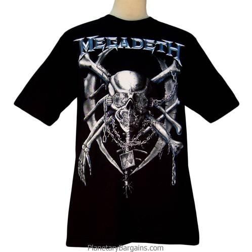 Megadeth Vic Rattlehead Skull Shirt
