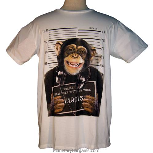 New Yorks Most Wanted Chimp Shirt NY