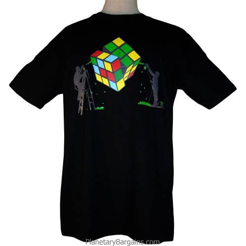Men Painting a Rubik's Cube Shirt