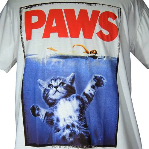 Paws Shirt Kitten Jaws