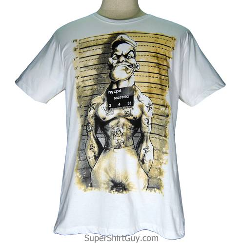 popeye prisoner shirt supershirtguy. Black Bedroom Furniture Sets. Home Design Ideas