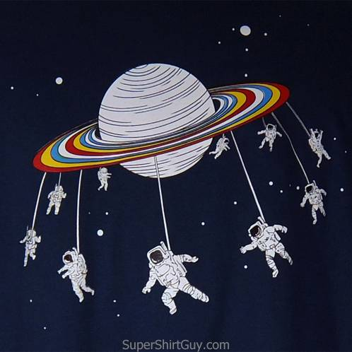 Astronaut Saturn Swing Ride Shirt