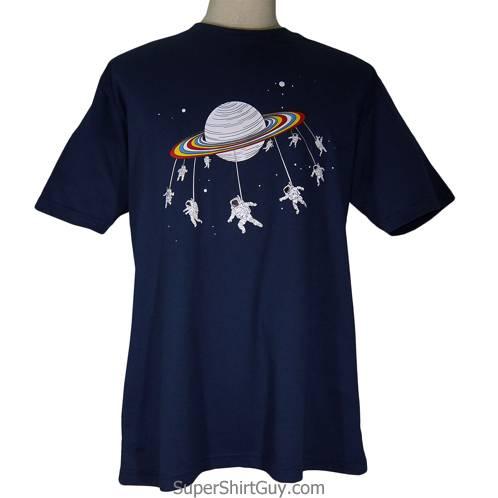 Astronaut Saturn Swing Ride Shirt