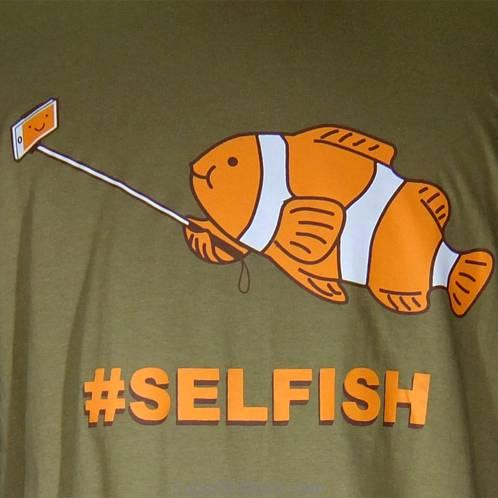 selfish fish selfie shirt