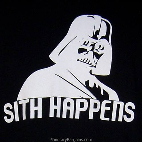 Darth Vader Sith Happens Shirt