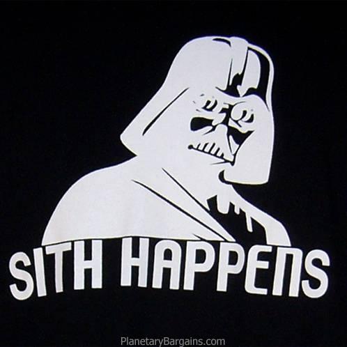 Darth Vader Sith Happens Shirt