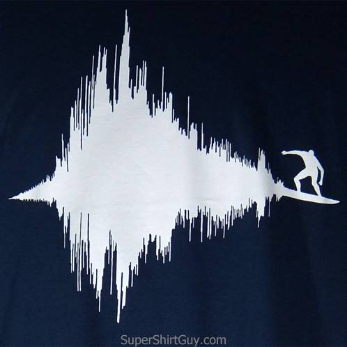 seismic wave surfer tee