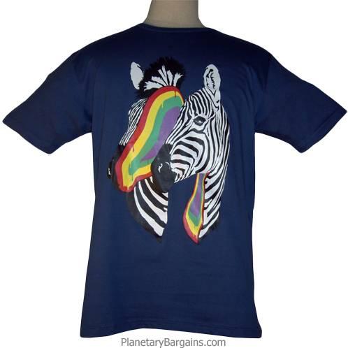 Rainbow Filled Zebra Head Shirt