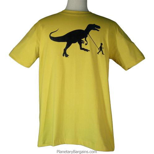 Boy With Pet Dinosaur Shirt