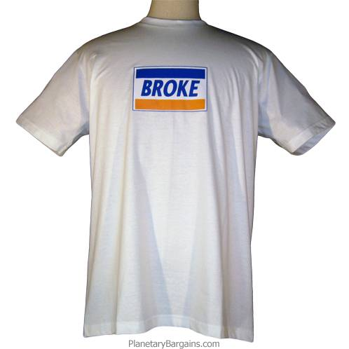 Broke Credit Card Parody T-Shirt