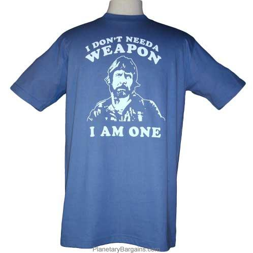 Chuck Norris Is A Weapon Shirt