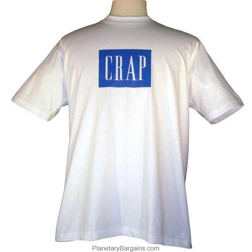 Crap Logo Parody T-Shirt Not Gap