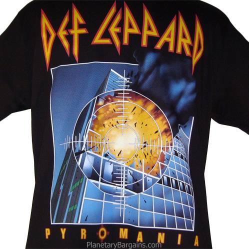 521fbc1ddc2 Def Leppard Pyromania Shirt Black - Def Leppard Band Shirt - Vintage ...