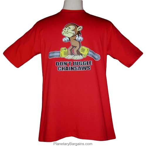 Don't Juggle Chainsaws Monkey Shirt