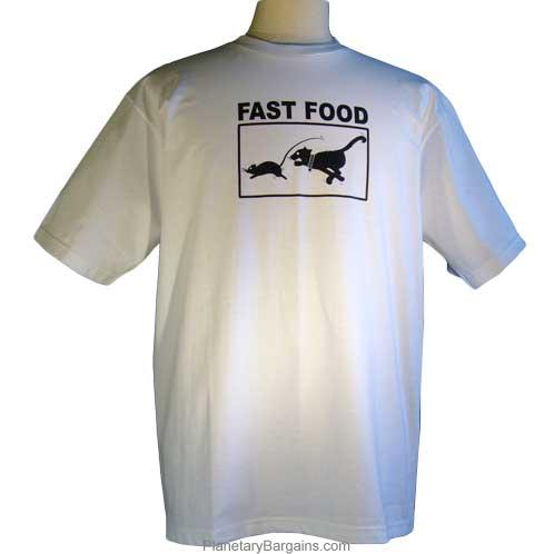 Funny Fast Food Cat And Mouse Shirt