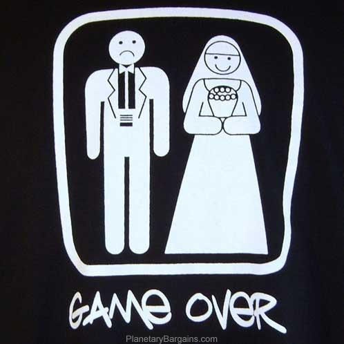 Funny Game Over Bride And Groom Shirt