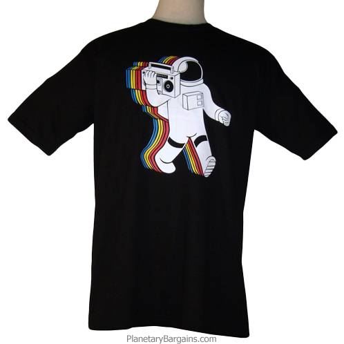 Ghetto Blaster Moonwalker Shirt Black - BoomBox Astronaut ...