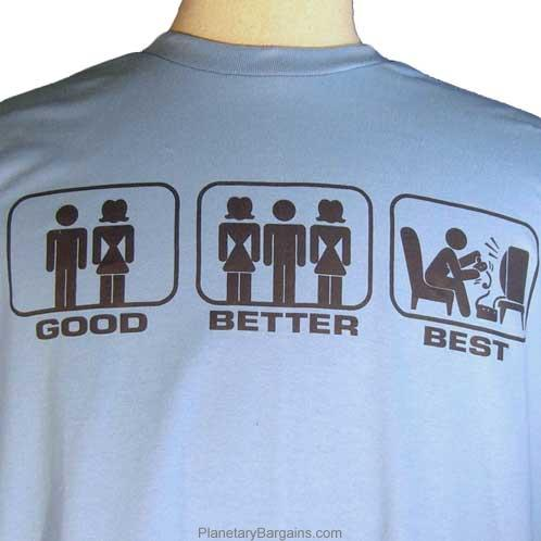 Good Better Best T Shirt Light Blue Funny T Shirts To