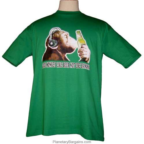 Funny Good Monkey Like Beer Not Banana Shirt