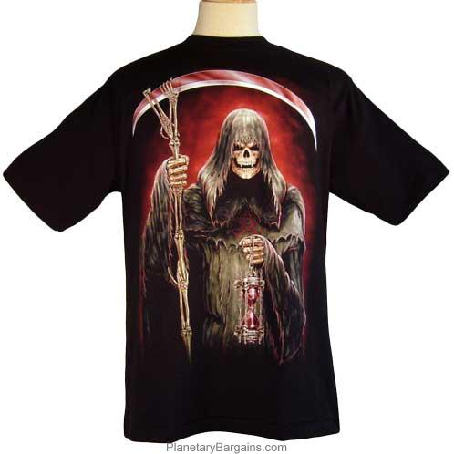 Grim Reaper Crossed Sythe Shirt