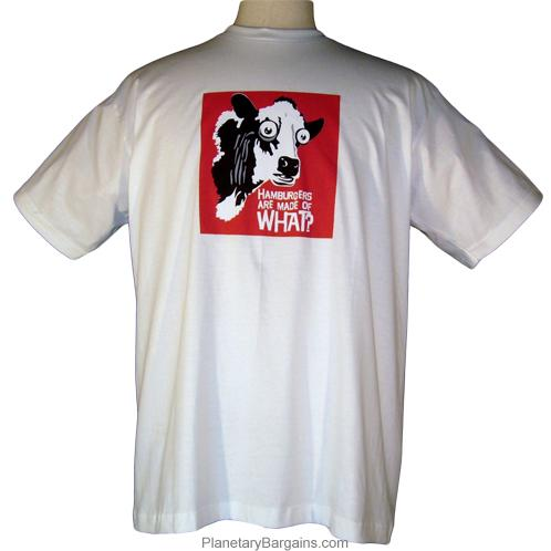 Hamburgers Are Made Of What Shirt White Funny Cow T