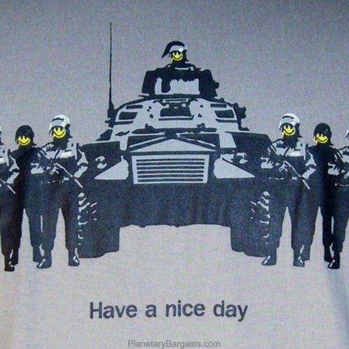 Have A Nice Day Happy Face Soldier Shirt