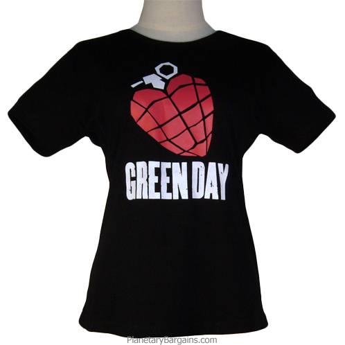 Ladies Green Day American Idiot Tight Fit Shirt
