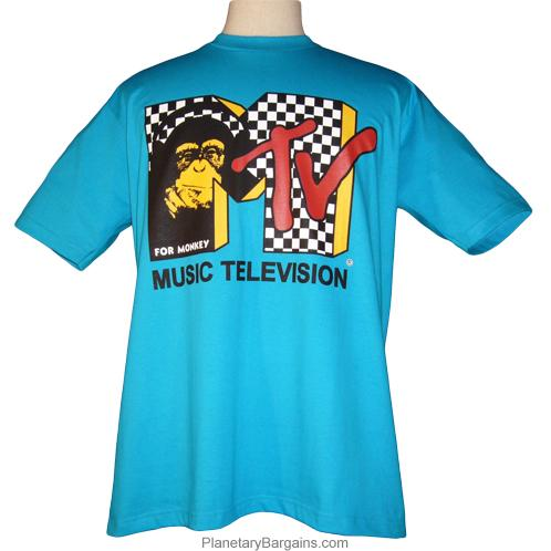 Music Television Form Monkeys Shirt MTV Chimp