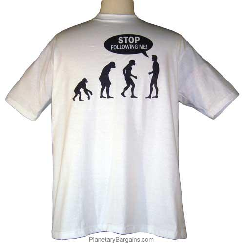 Funny Stop Following Me Evolution Shirt